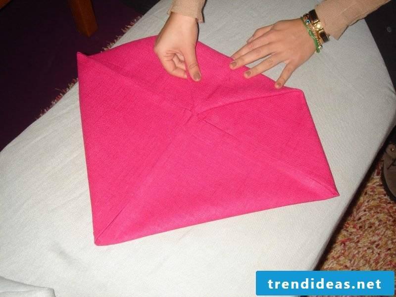Star napkins fold step 3