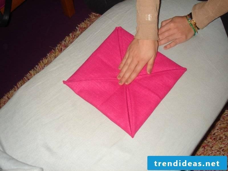 Star napkins fold step 5