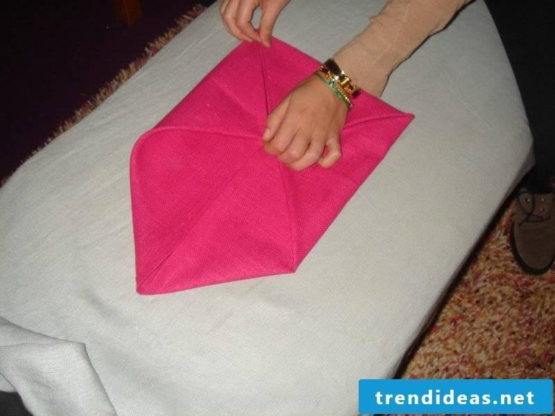 Star napkins fold step 4