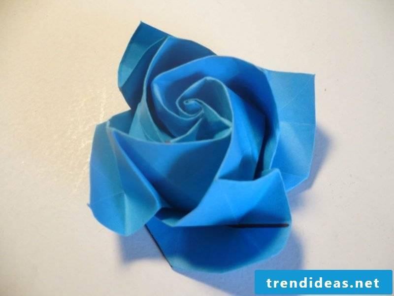 origami rose instruction