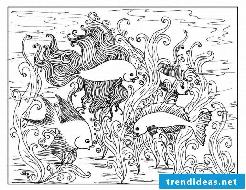 Aquarium coloring pictures for free