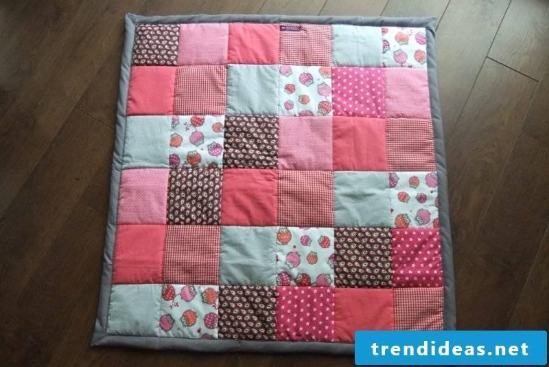 Patchwork blanket sew idea