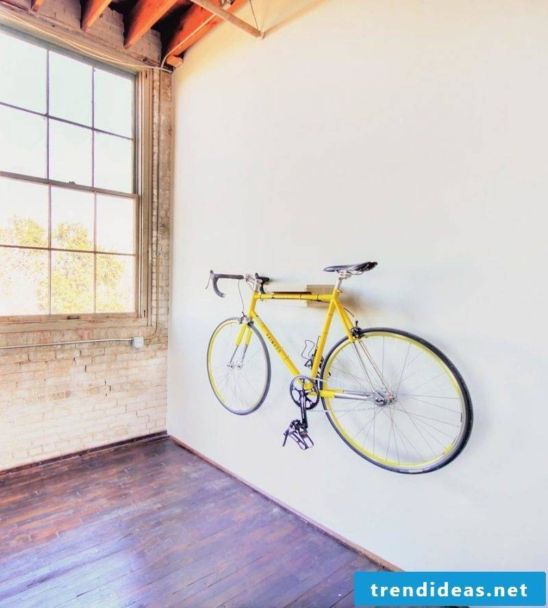 Bicycle mount for wall minimalist
