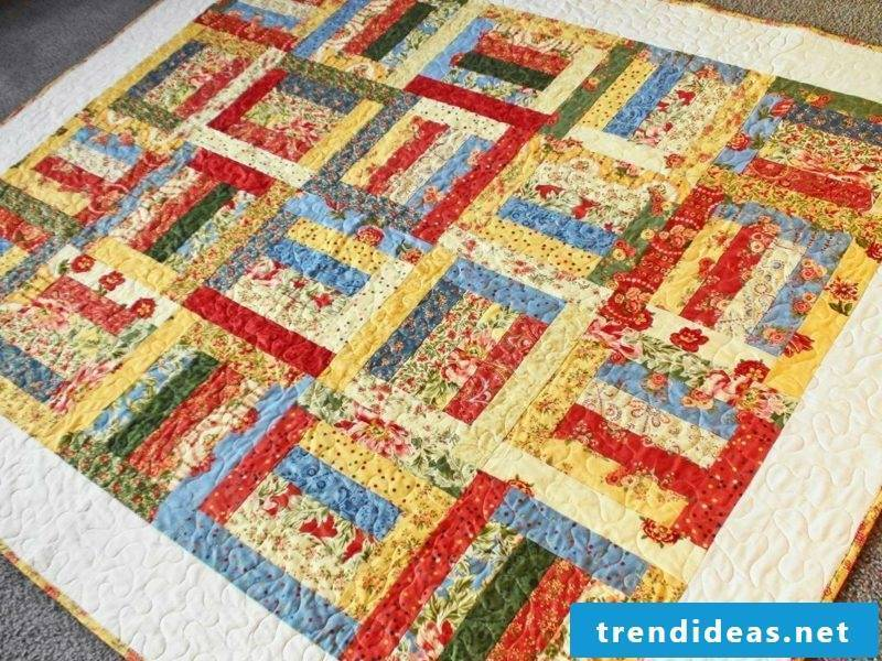 Patchwork blanket guide squares