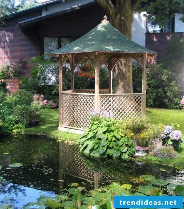 gazebo itself build pond