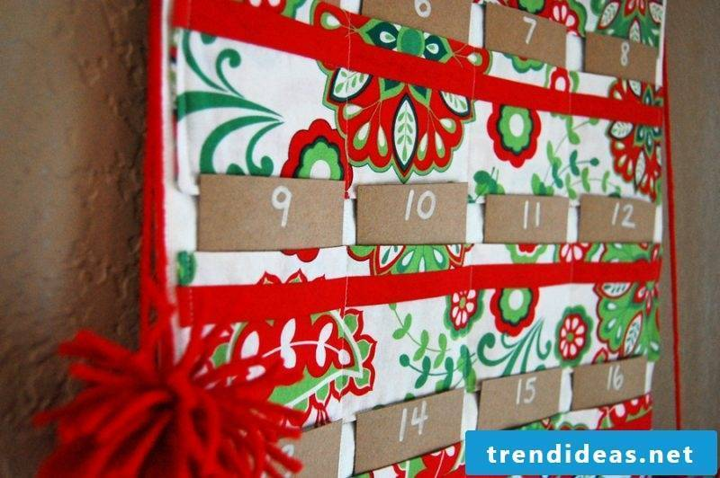 Sew Advent calendar - write or sew on it