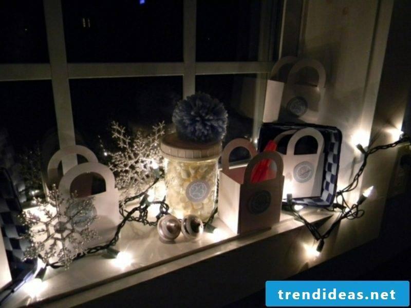 Advent calendar from big paper bags DIY ideas