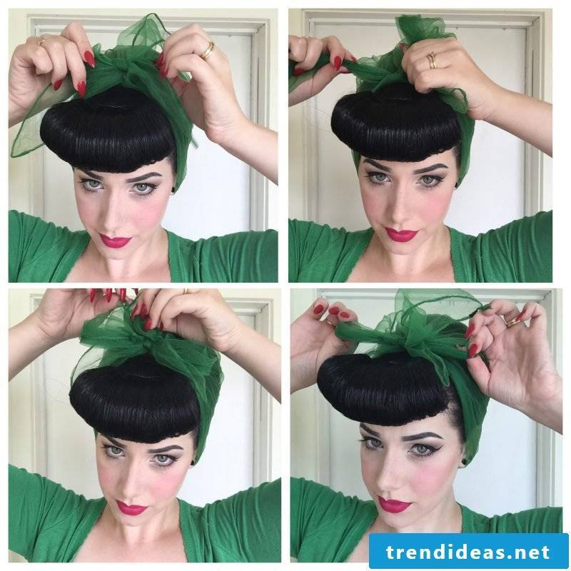 Tie headscarf DIY idea to tie kerchiefs