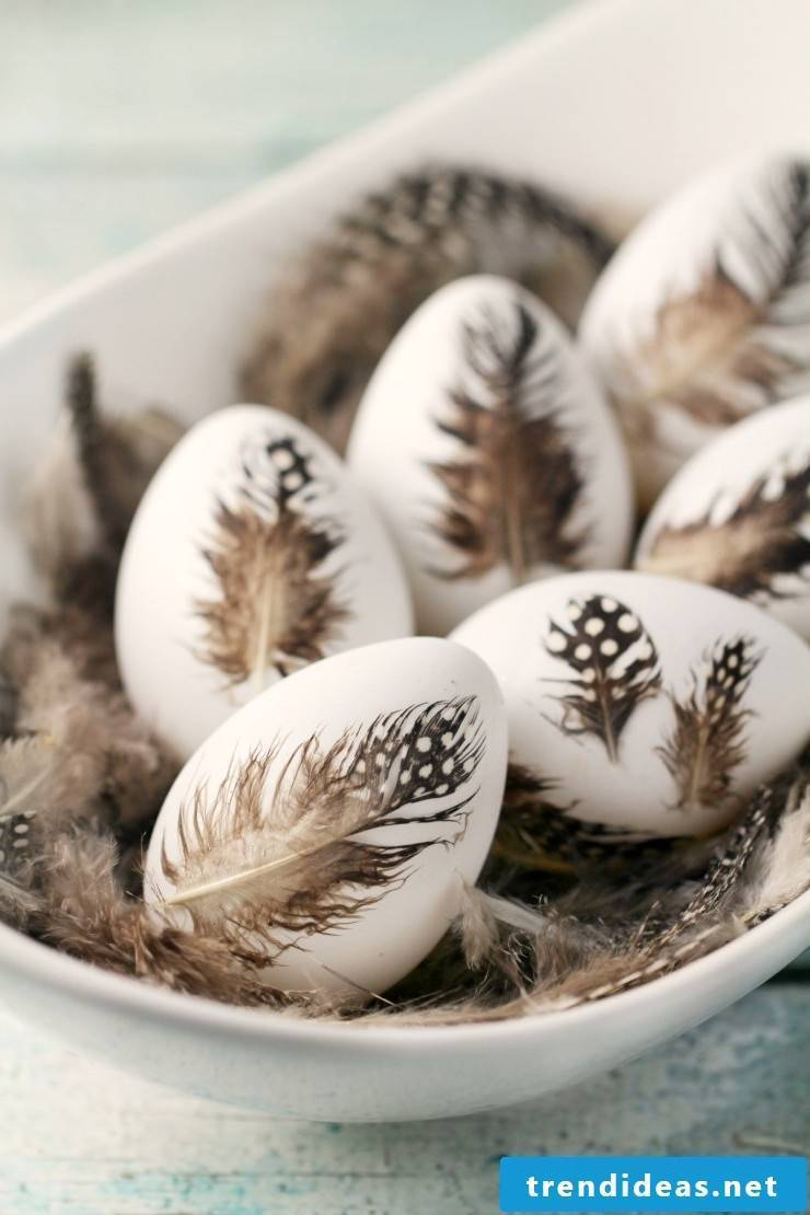 The fifth technique for Easter eggs without color dyeing