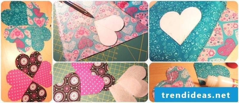 Bookmarks make hearts