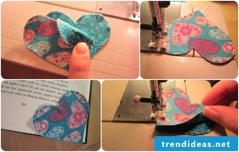 Making bookmarks yourself Making hearts