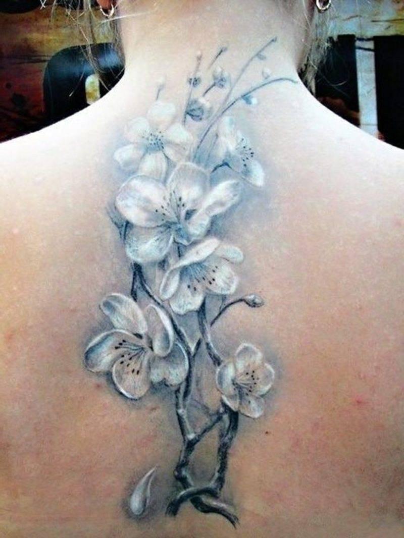 Blossom floral tattoo