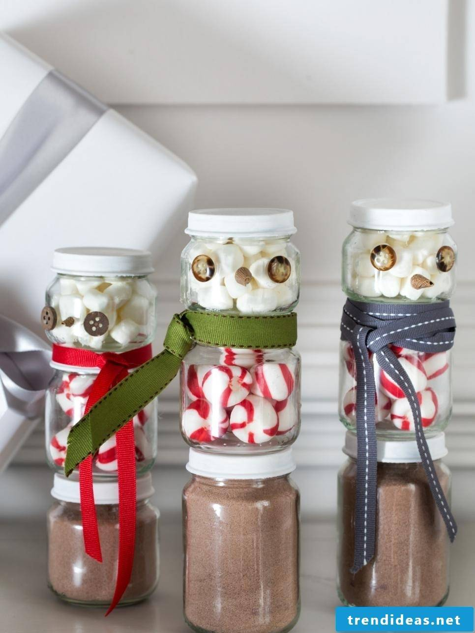 Gifts from the kitchen - Hot chocolate in a glass