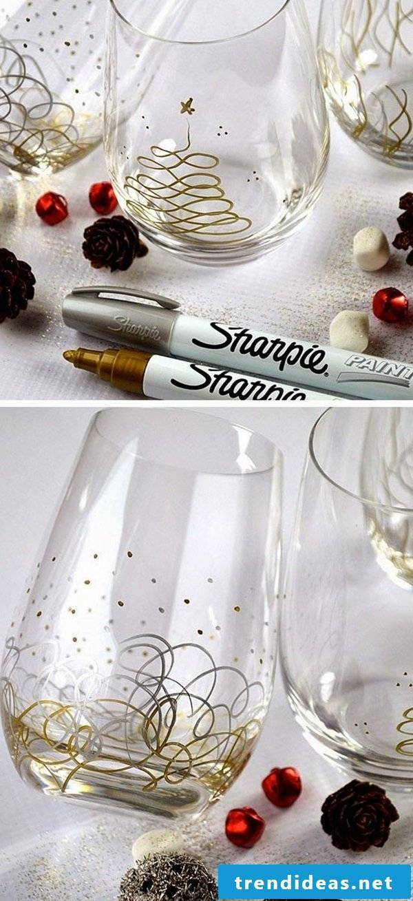 Make DIY gifts yourself - decorate glass