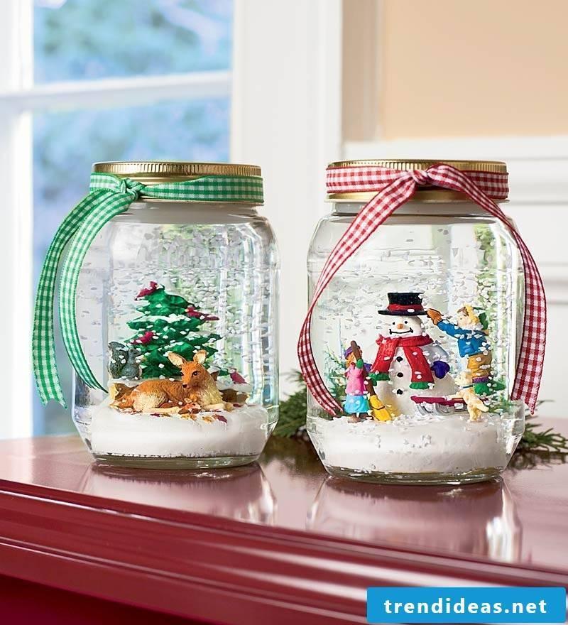 Make Christmas - make snow globes yourself