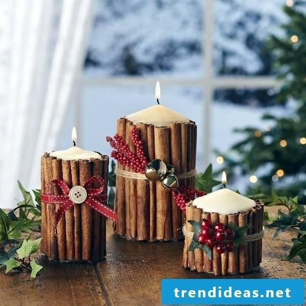 Make Christmas presents yourself - DIY candles