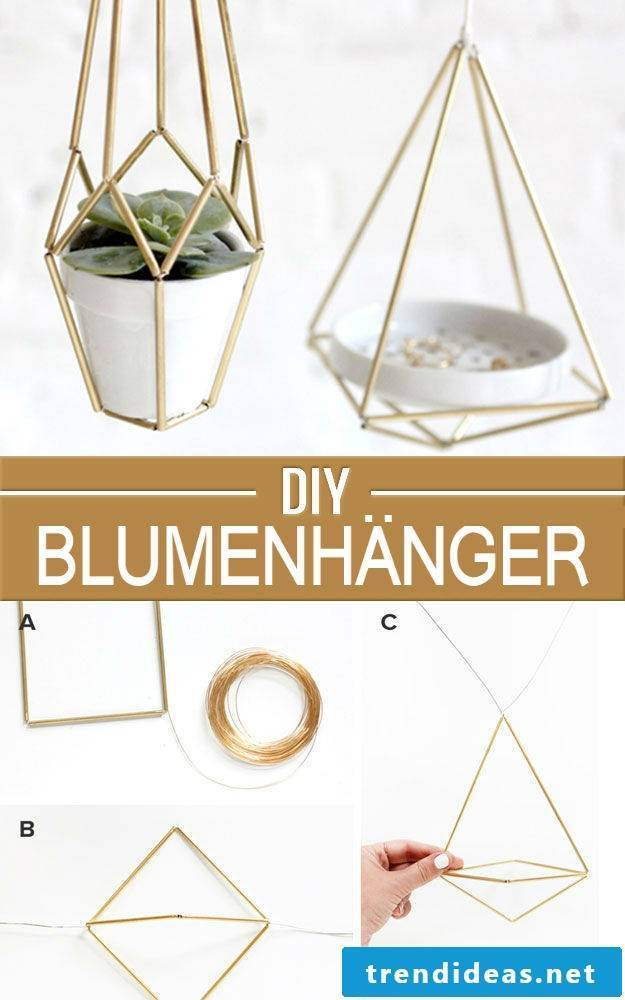 DIY flower hangers - and many great ideas for Christmas gifts for parents