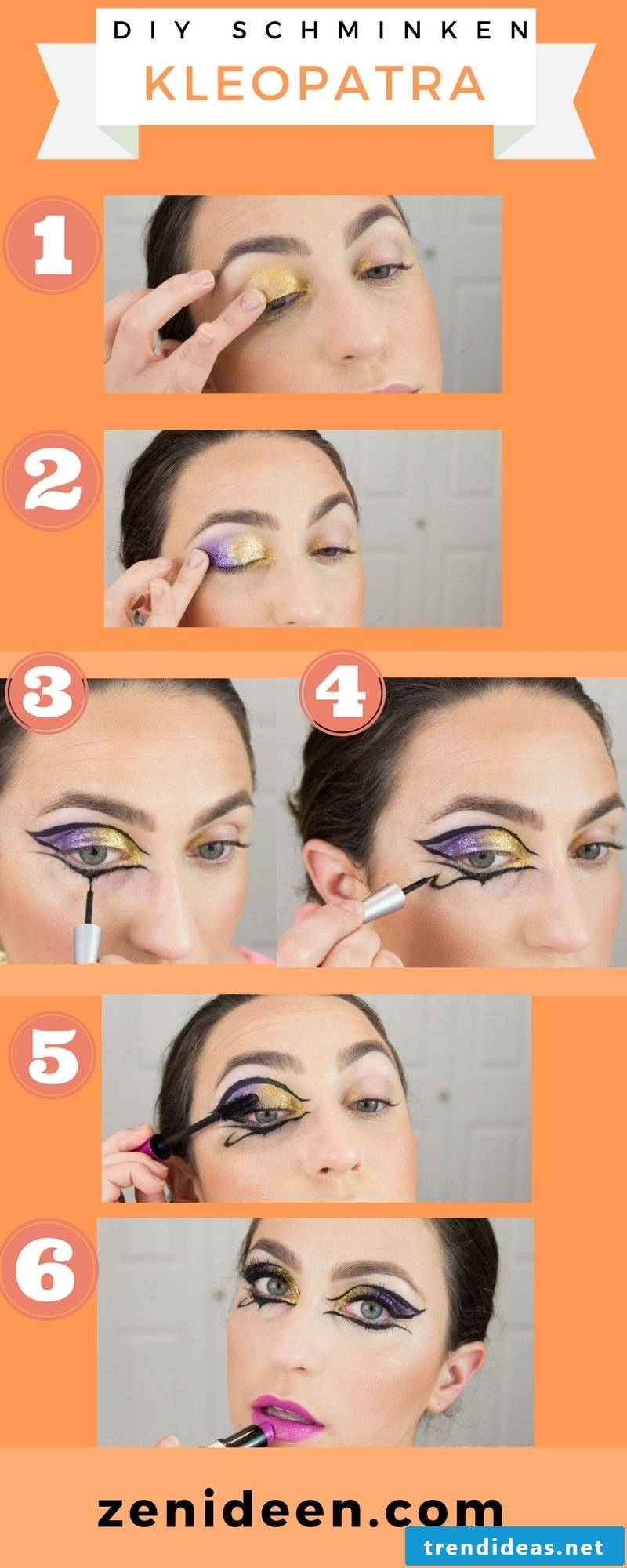 Cleopatra make-up - DIY instructions and make-up tips: