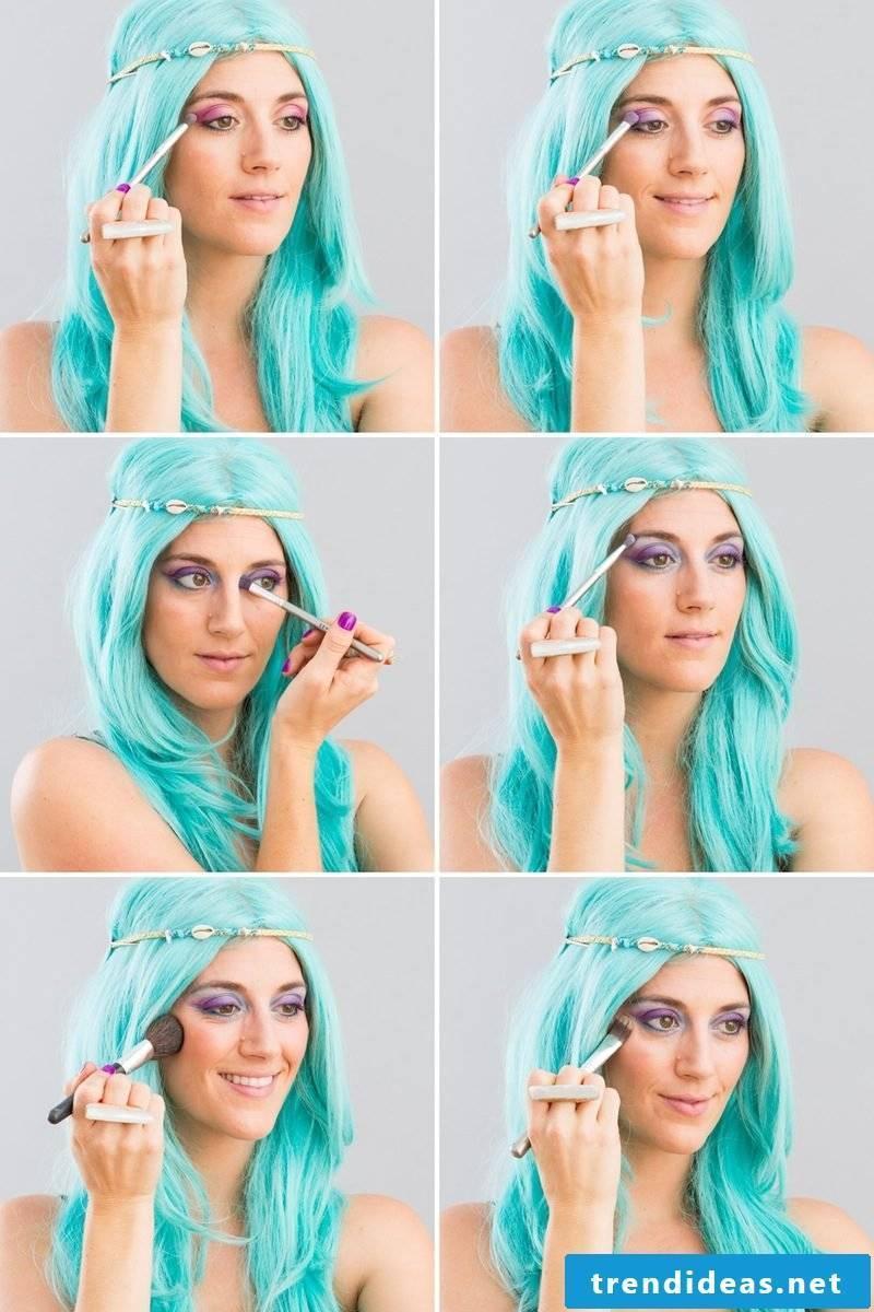 Make-up tips for mermaid carnival costume