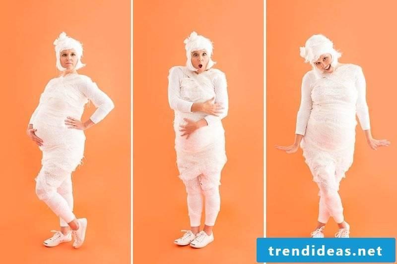 Creative idea for carnival costume for pregnant