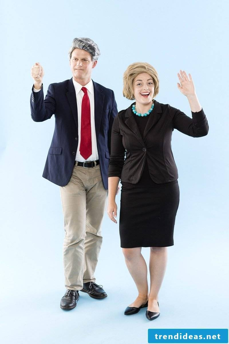 Unique carnival costumes: dress up as Bill and Hillary Clinton