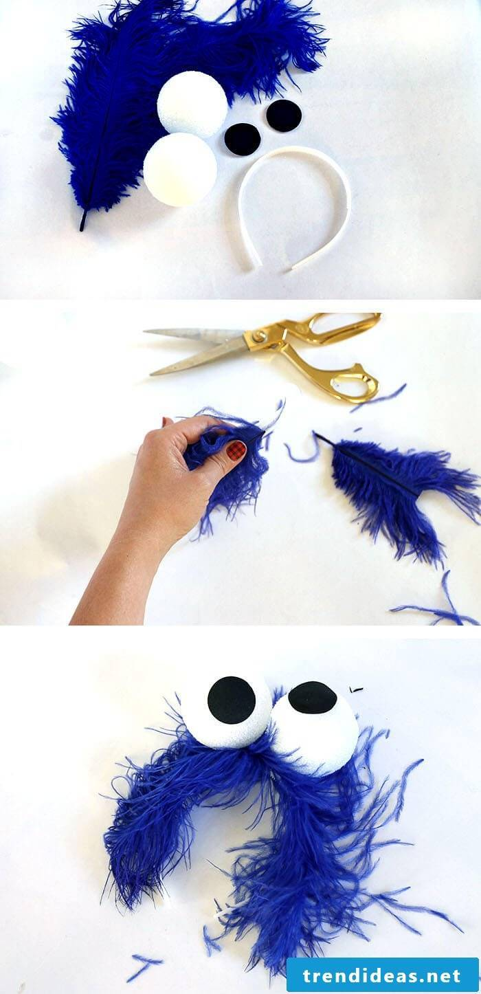 It's time for Cookie Monster!  Only you need for a DIY costume