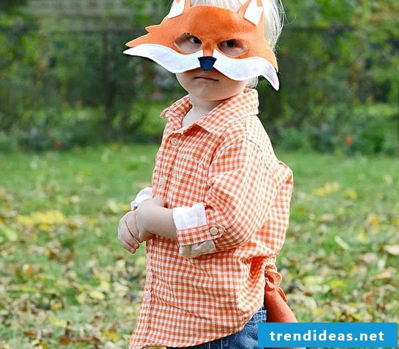Make animal mask!  Only you need for a DIY costume