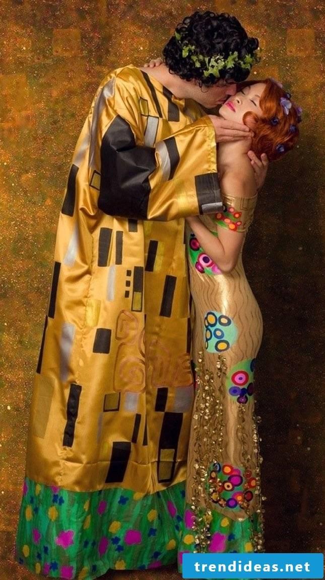 The kiss of Gustav Klimt