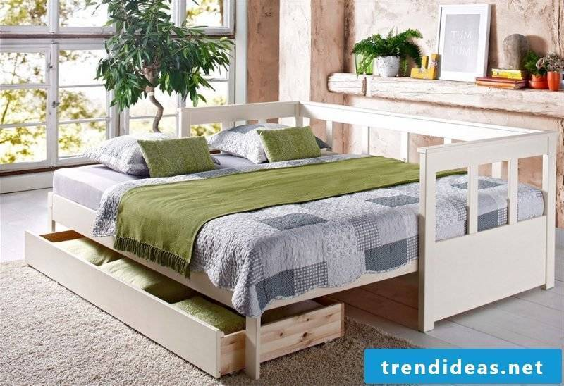 diy bed green