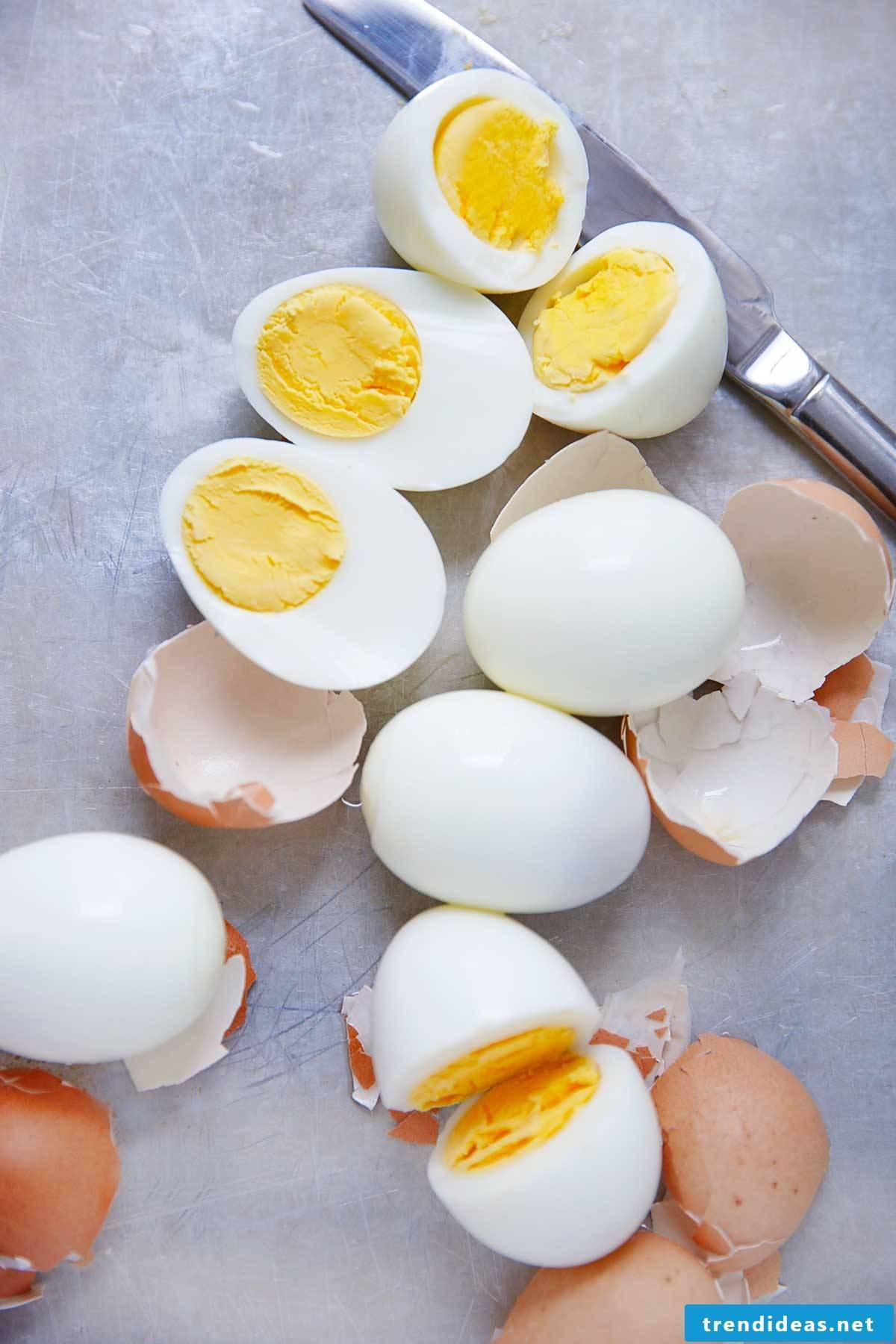 Cook eggs hard