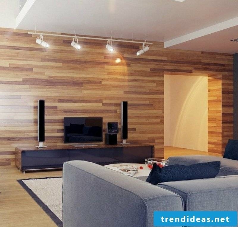 wooden wall covering living room