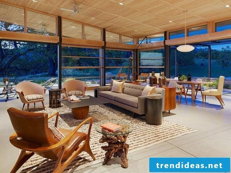 impressive design of the living room