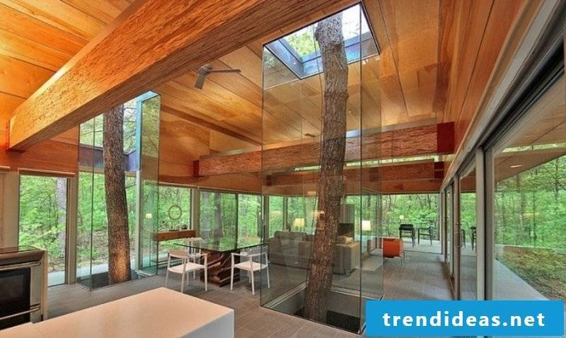 Harmony with nature Living room design