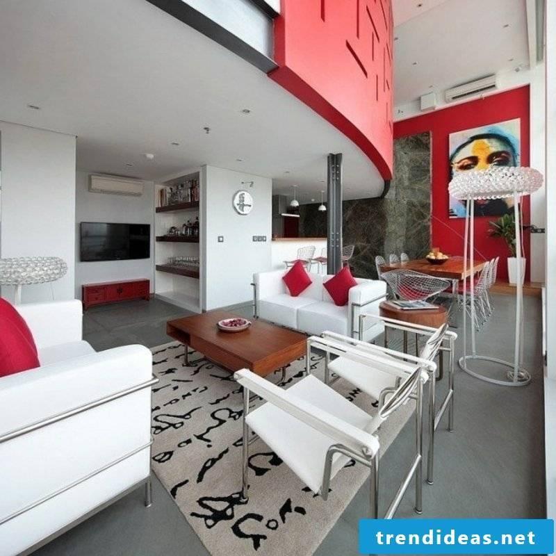 Living room geometric motifs