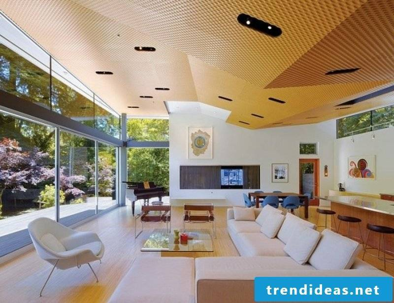 interesting ceiling living room design