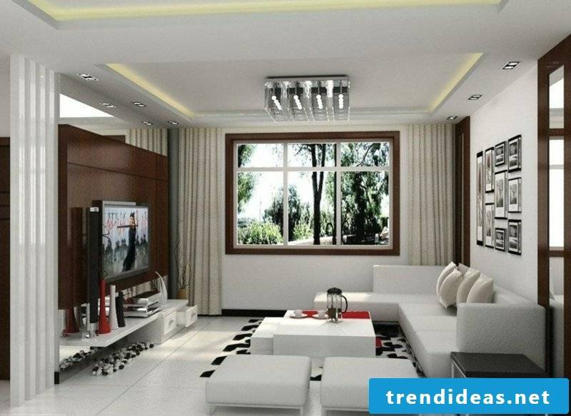 modern living room with brown accents