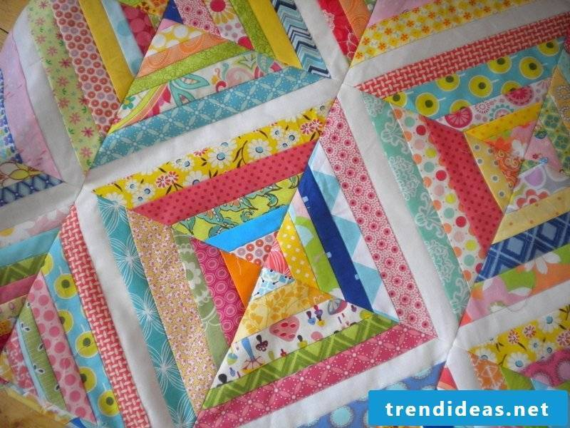 Patchwork blanket sew baby