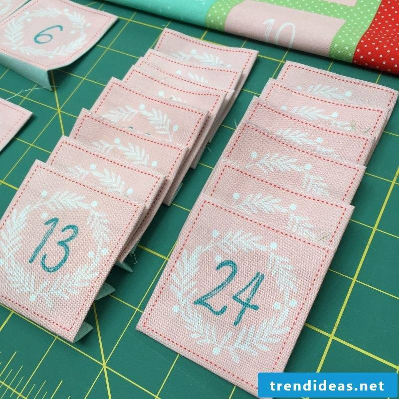 Sew Advent Calendar - Instructions Step 3