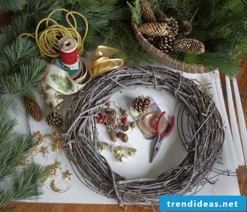 Advent wreath itself make instructions - the materials