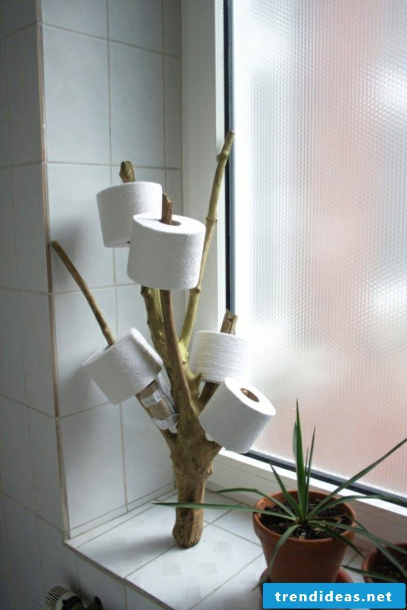 Toilet roll holder branch