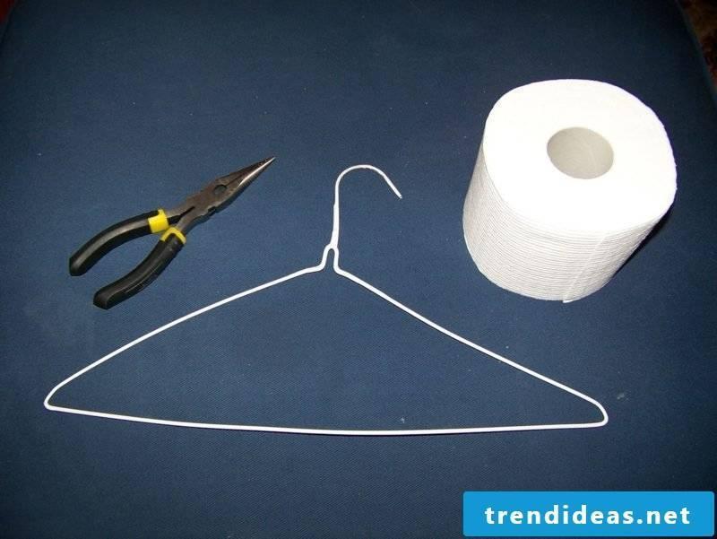 toilet paper holder from hangers