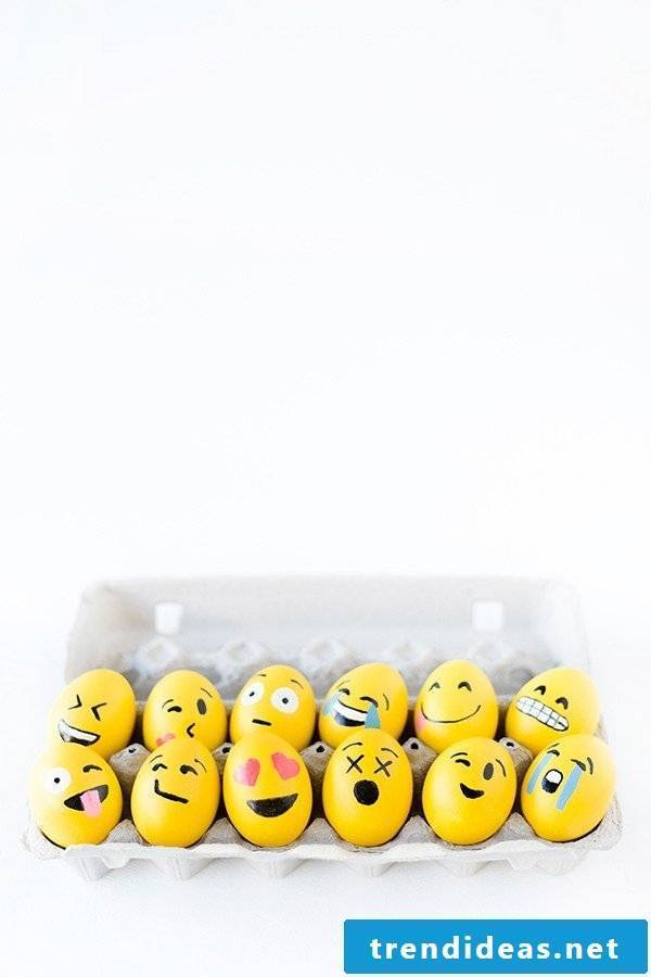 Emoji Funny Eggs Faces - bring color into your life for Easter