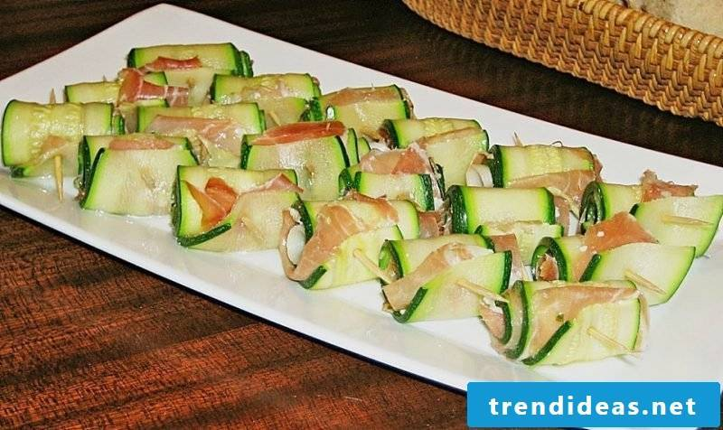finger food cold zucchini