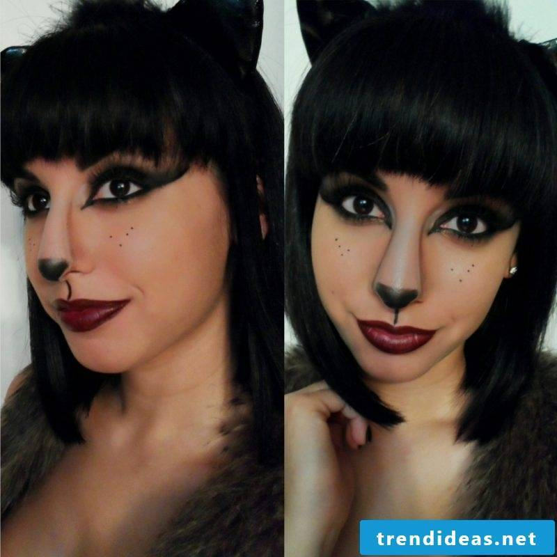 Hairstyles with bangs in Halloween still