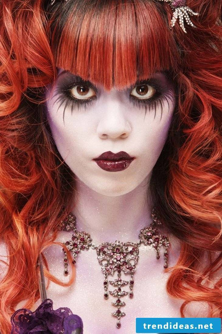 Halloween ideas for long hair with bangs