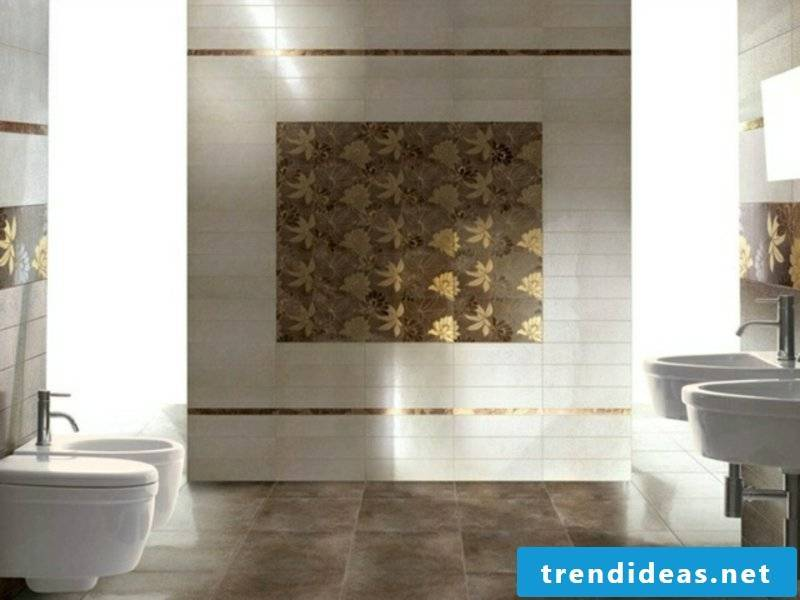 floral motifs bathroom tiles