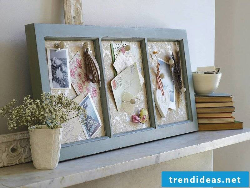 Memoboard itself made of wood and fabric