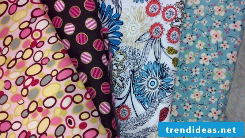 Make memoboard yourself: Choose the right fabric pattern