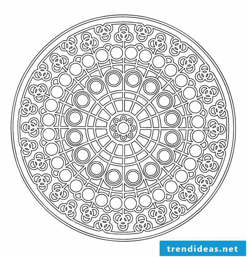 mandala templates center of the circle