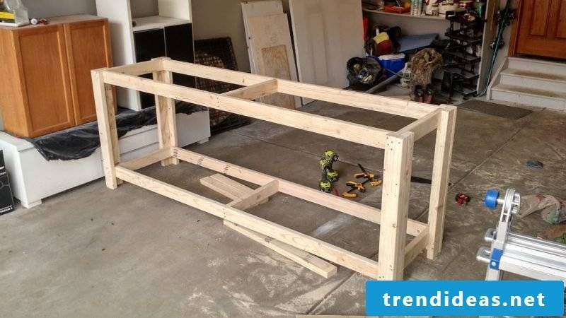 How do I build my own garage workbench?  Instructions here: